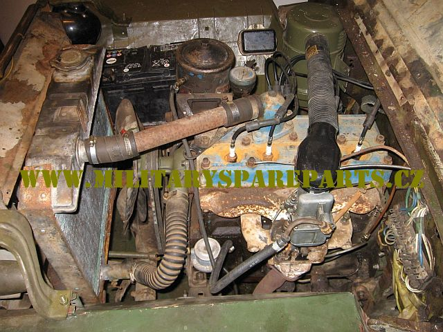 JEEP WILLYS MB FORD GPW MOTOR PŘED RENOVACÍ